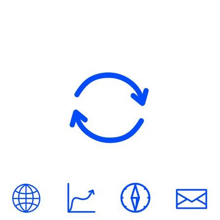 cyclique icône vecteur