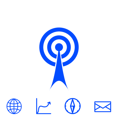 wireless signal: wifi vector icon
