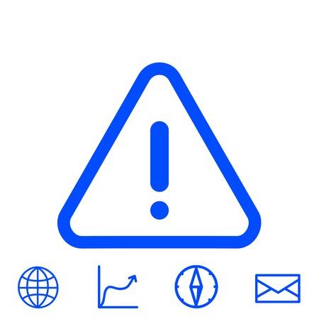 Icono de advertencia del vector