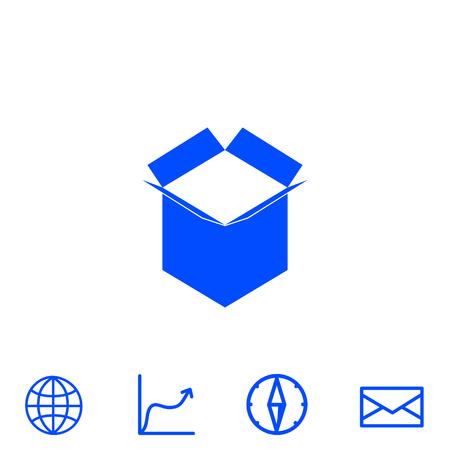 distribution board: open box vector icon