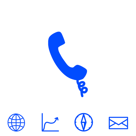 old telephone: phone vector icon Illustration