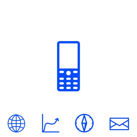 old cell phone: cellphone vector icon
