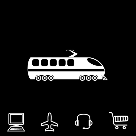 high speed train: modern train vector icon Illustration