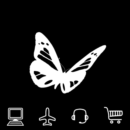 butterfly background: butterfly vector icon