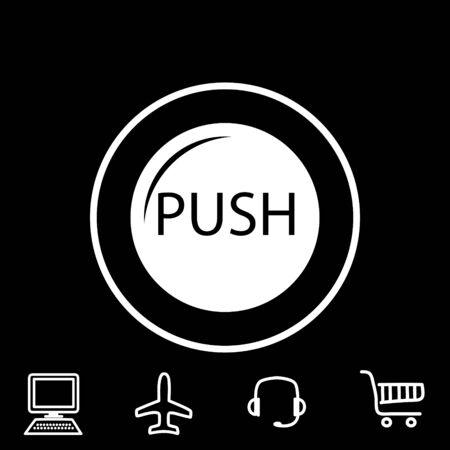 shiny buttons: push button vector icon