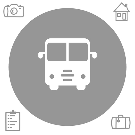 car speed: bus vector icon
