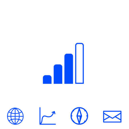 wireless icon: radio signal level vector icon