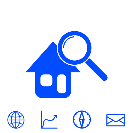 searching for house vector icon Illustration