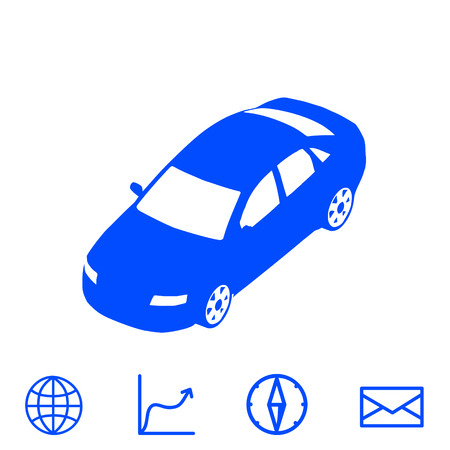 car speed: car vector icon
