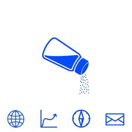 shiny buttons: salt vector icon Illustration