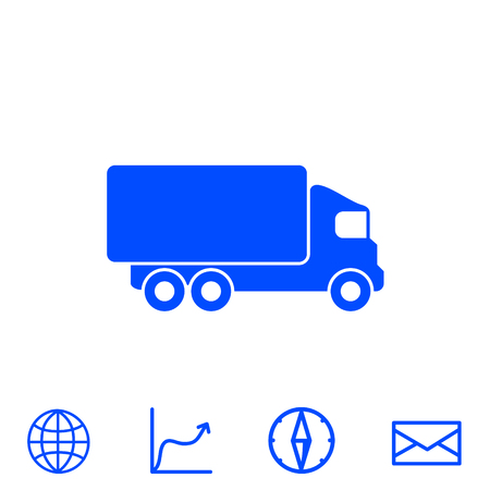 delivery truck: truck vector icon
