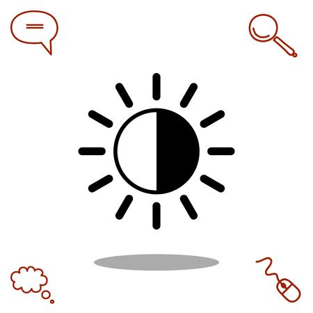 brightness vector icon Illustration