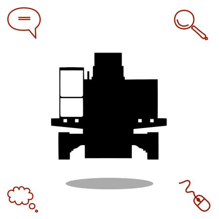 machinery: excavator vector icon