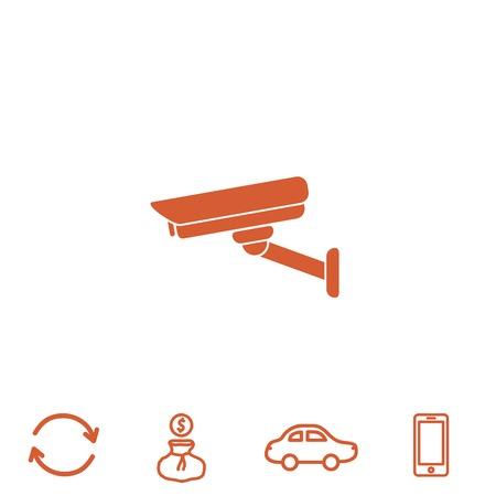 surveillance camera vector icon