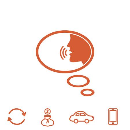 aloud: talking vector icon