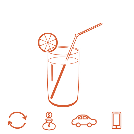 cocktail vector icon Illustration
