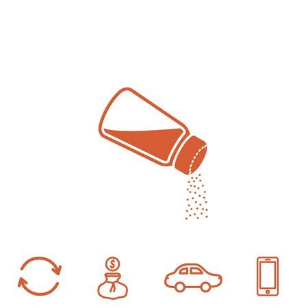 salt free: salt vector icon Illustration