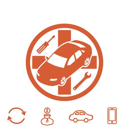 auto service vector icon