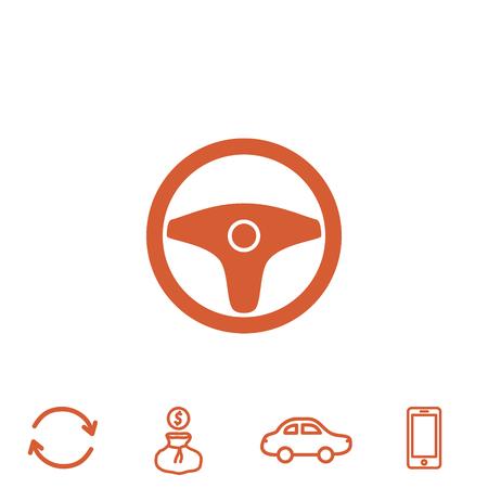 steering vector icon Illustration