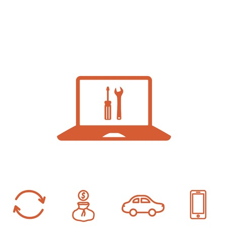 touchpad: repair laptop vector icon Illustration