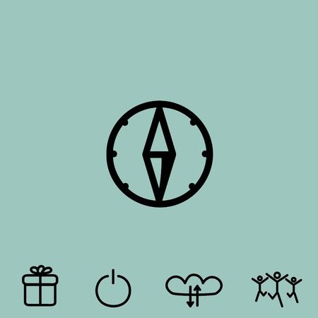 compass rose: compass vector icon