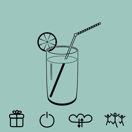 coldly: cocktail vector icon Illustration