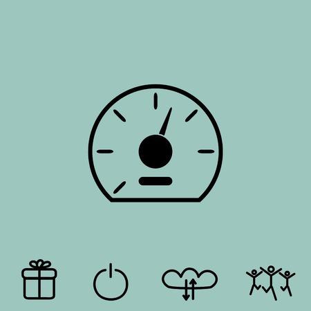 dashboard: speedometer vector icon