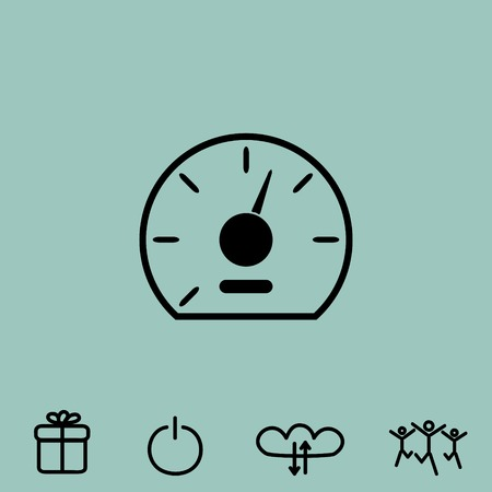 speedometer vector icon