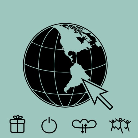 website vector icon Illustration