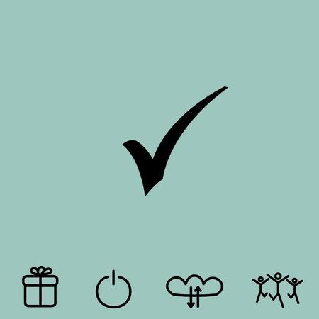 confirmed: ok vector icon