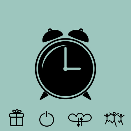 alarm clock vector icon Illustration