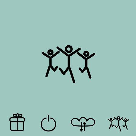 partnership security: success team vector icon Illustration
