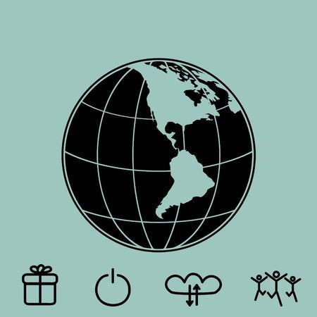 Globo vector icono