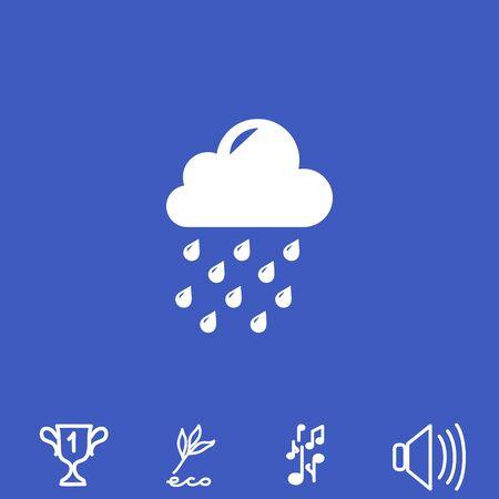 rainy season: Weather vector icon