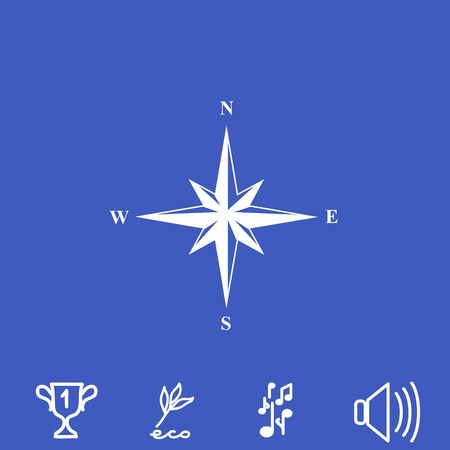 compass rose: Wind rose vector icon.
