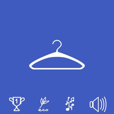 hangers: Hatrack vector icon. Illustration
