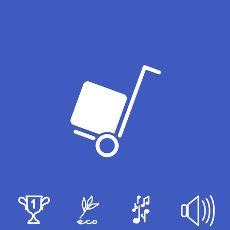 moving truck: delivery vector icon