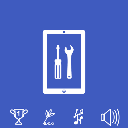 touch screen phone: Repair touchpad vector icon. Illustration