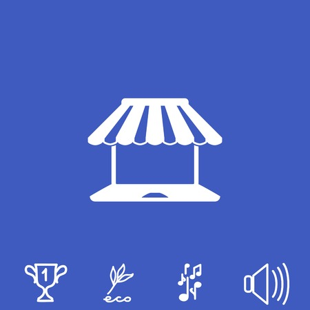 Shopping vector icon.