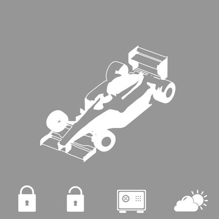 formula one: sport car vector icon