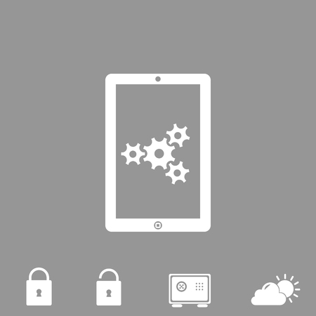 touch screen phone: adjustments of touchpad vector icon