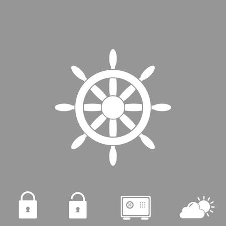 steering wheel vector icon