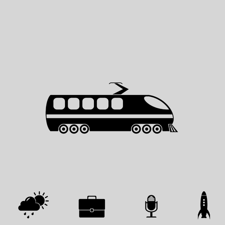 high speed internet: modern train vector icon Illustration