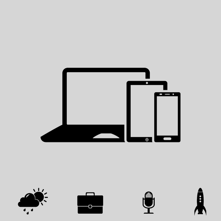 touch screen phone: smartphone touchpad laptop vector icon Illustration