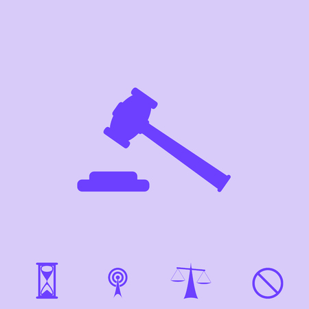 hammer judge vector icon