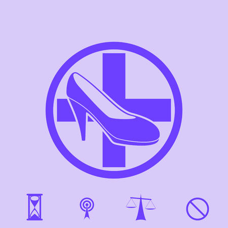 repair footwear vector icon Illustration