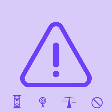 beware: warning vector icon