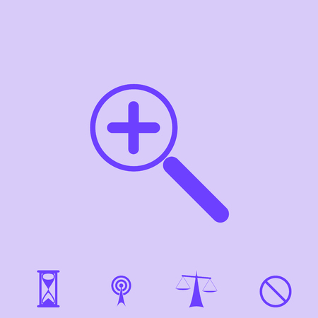 reviews: zoom vector icon Illustration