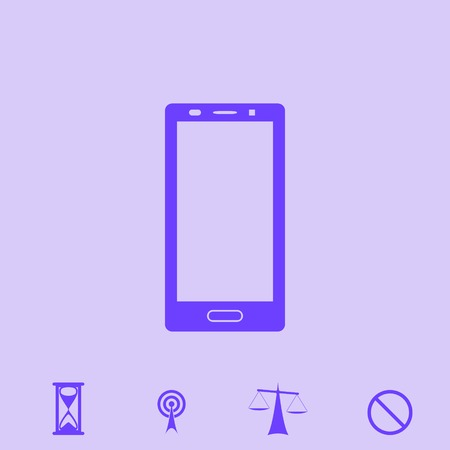 lcd display: smartphone vector icon