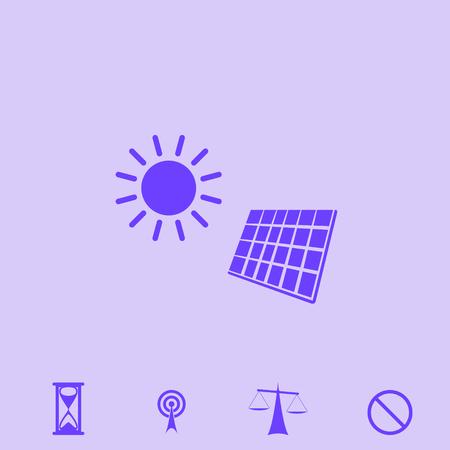 glass reflection: solar panel vector icon